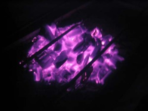 Envision the purple flame next to you to neutralize the nervous energy
